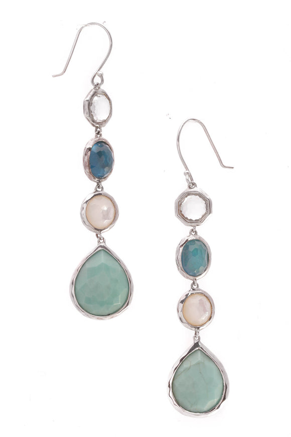 Ippolita Rock Candy Wonderland Drop Earrings Silver Blue