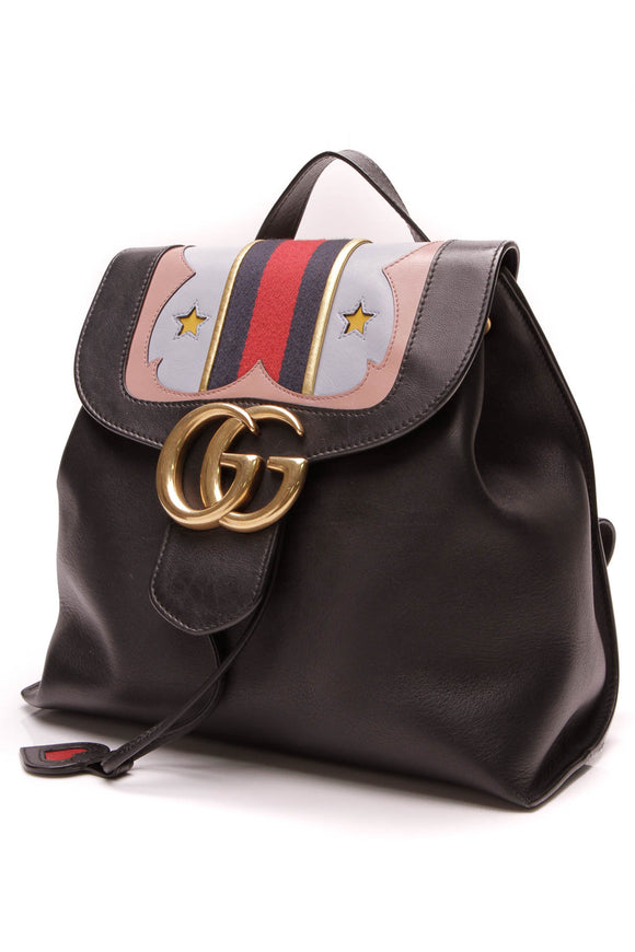 Gucci GG Marmont Backpack Black