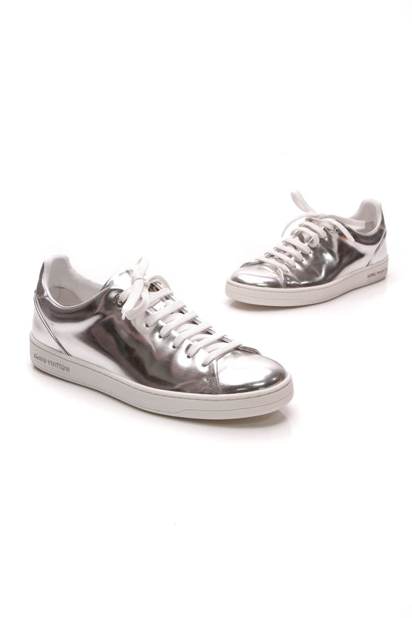 Louis Vuitton Frontrow Sneakers Silver Size 37