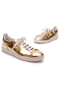 Louis Vuitton Frontrow Sneakers Gold Size 37