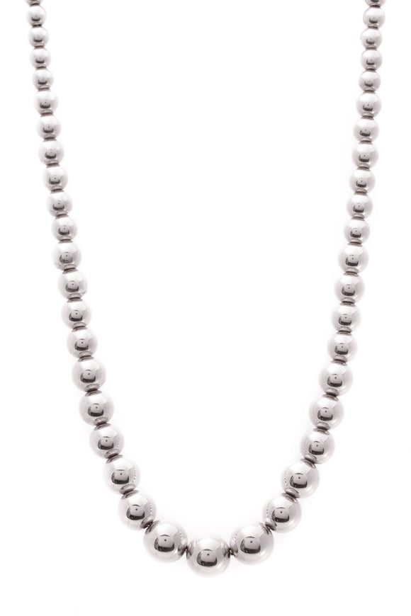 Tiffany & Co. Graduated Bead Necklace Silver