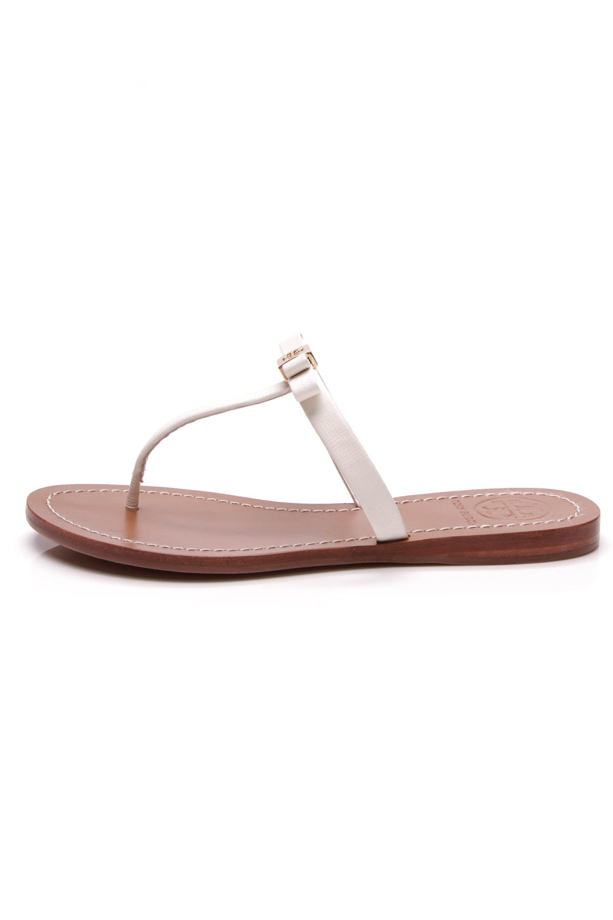 817d0e472a5 Tory Burch Leighanne Bow Thong Sandals - White Size 5 – Couture USA