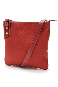 Gucci Messenger Crossbody Bag Red Signature Canvas