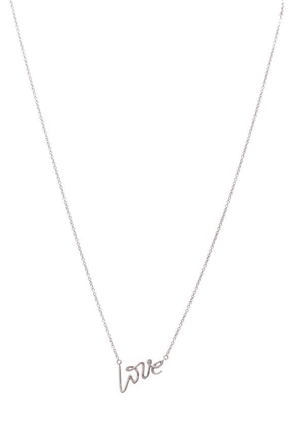 Tiffany & Co. Paloma Picasso Love Pendant Necklace Silver