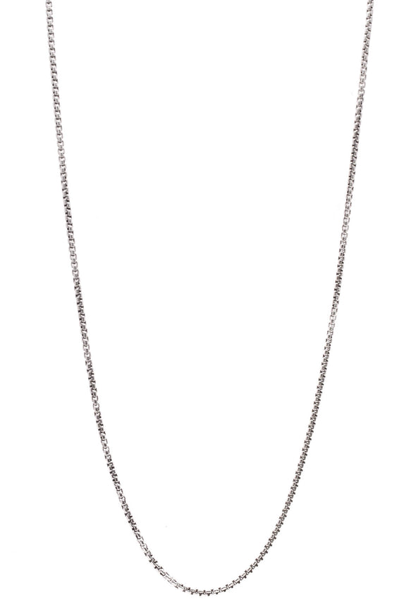 David Yurman 3.6mm Medium Box Chain Necklace Silver