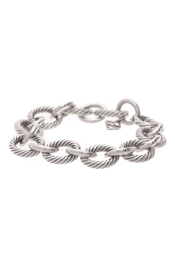 David Yurman Medium Oval Link Bracelet Silver