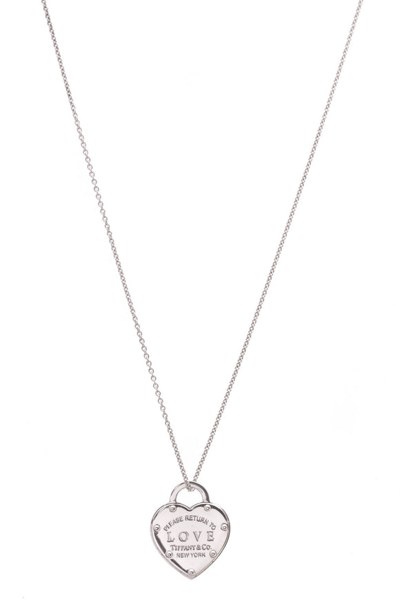 Tiffany & Co. Return to Love Pendant Necklace Silver