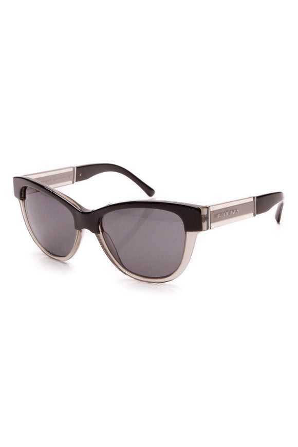 Burberry Regent Round Sunglasses Black Gray
