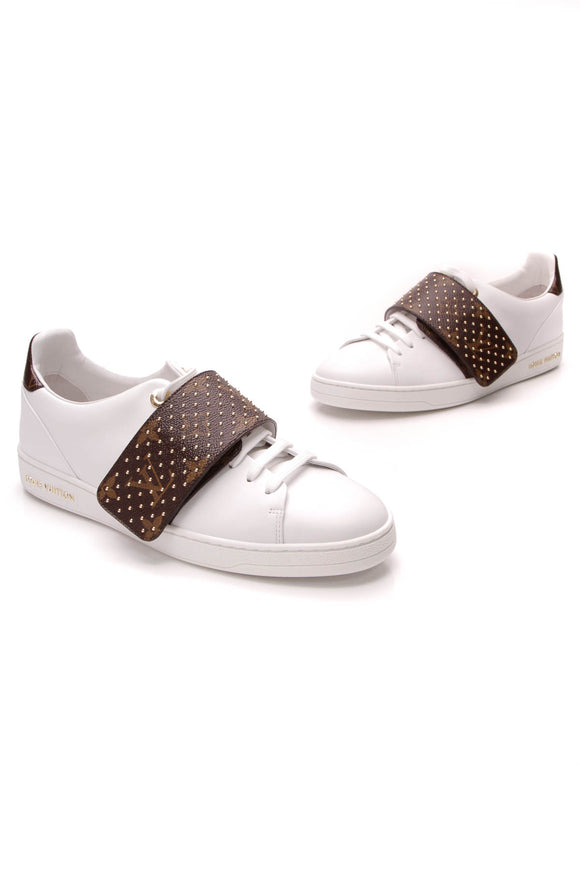Louis Vuitton Frontrow Sneakers White Monogram Size 38
