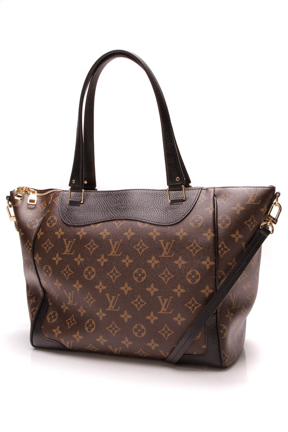 Louis Vuitton Estrela MM Tote Bag Monogram Noir Brown Black