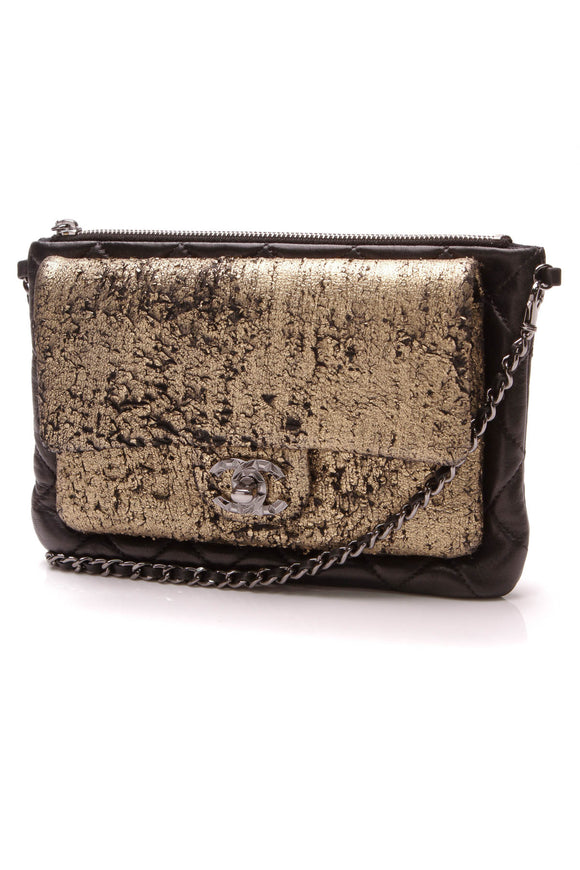 Chanel Mineral Nights Evening Bag Black Gold