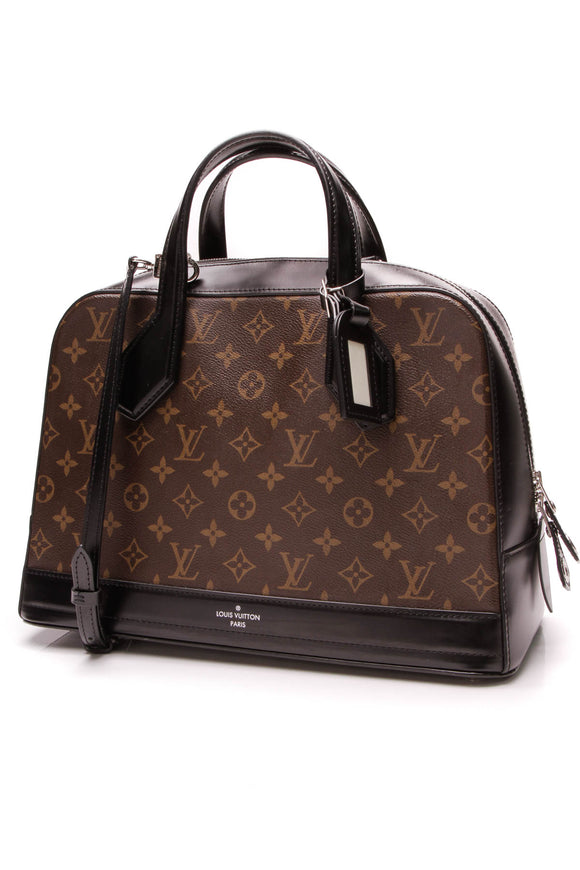 Louis Vuitton Dora MM Bag Black Monogram Brown