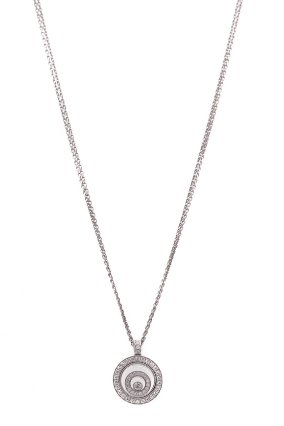 Chopard Diamond Happy Spirit Necklace White Gold