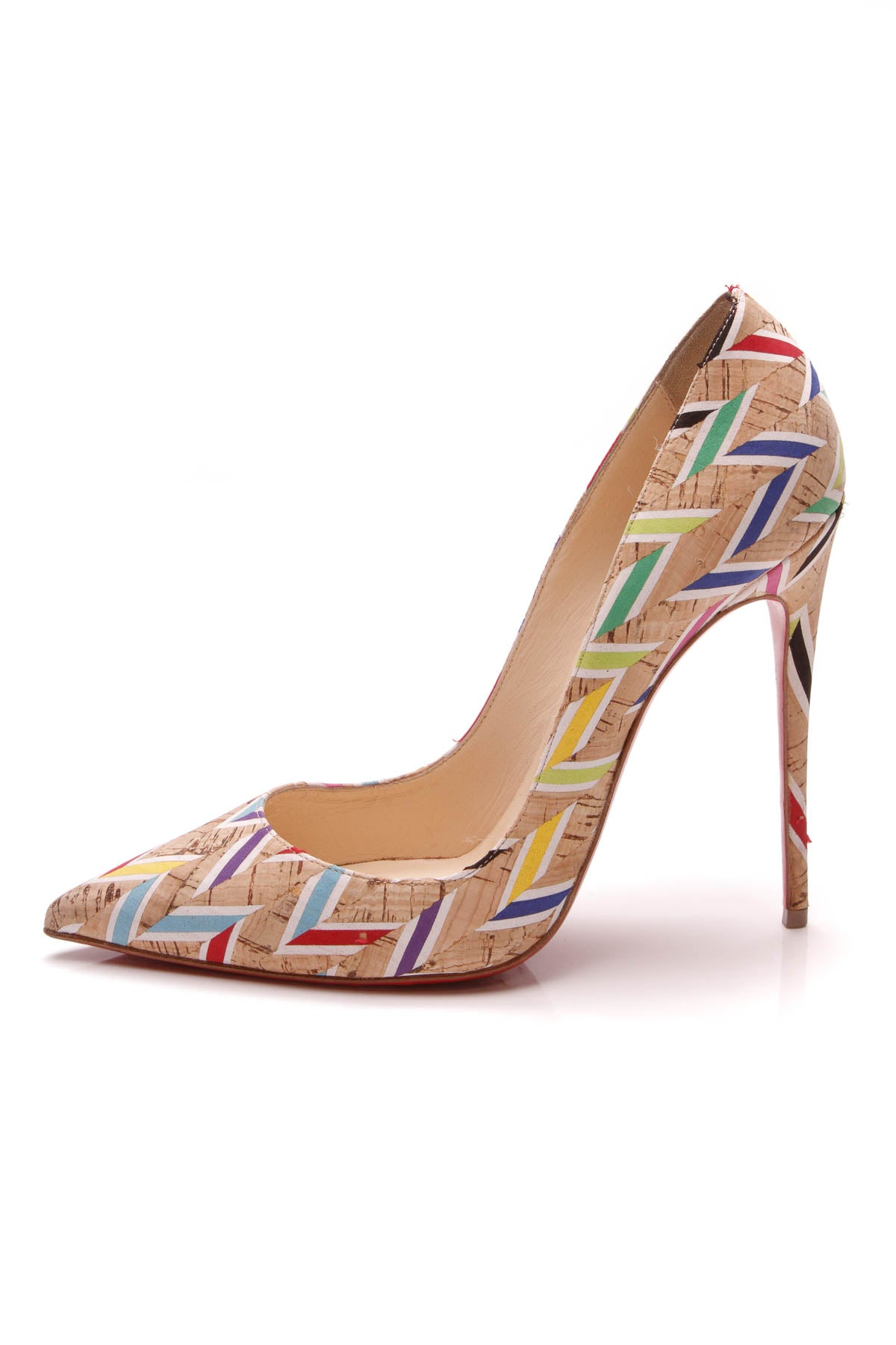 824ef8cb1aaa Christian Louboutin Printed Cork Pigalle Follies Pumps Multicolor Size 38.5