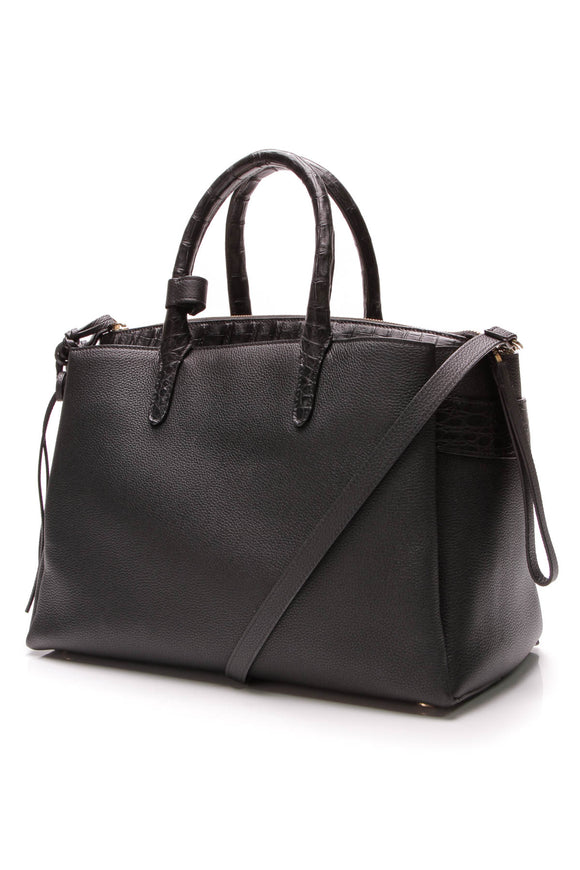 Nancy Gonzalez Christy Large Tote Bag Black Crocodile