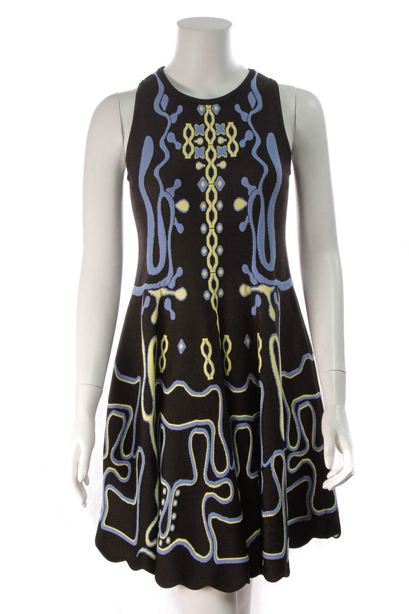 Peter Pilotto Maze Knit Dress Black Size XL
