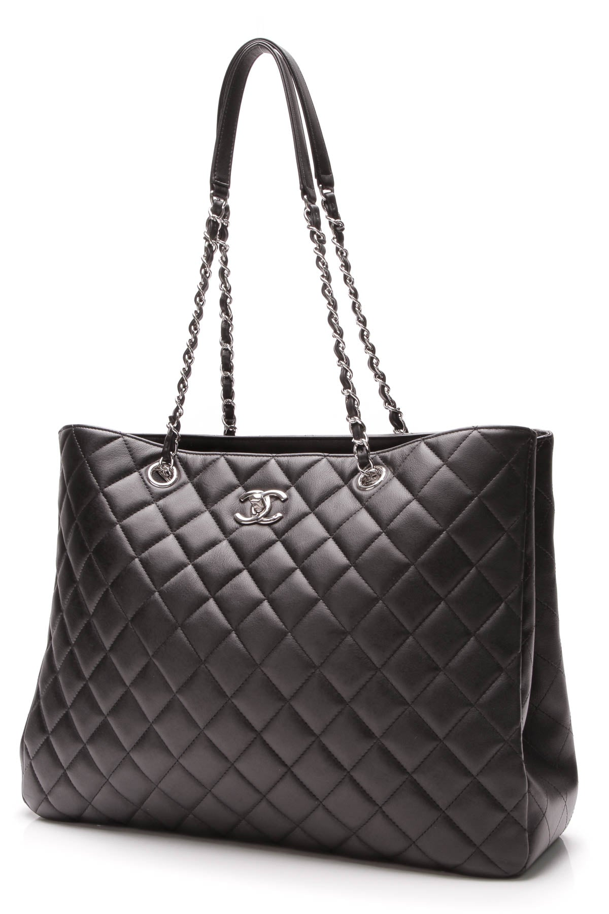 8fd2afb90 Chanel Large Classic Tote Bag - Black Lambskin – Couture USA