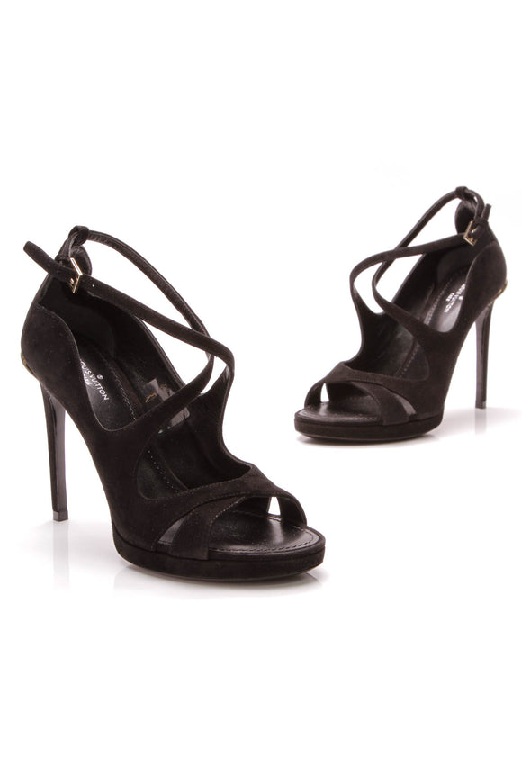 fb3e76053 Louis Vuitton Hypnotic Sandal Pumps Black Size 36