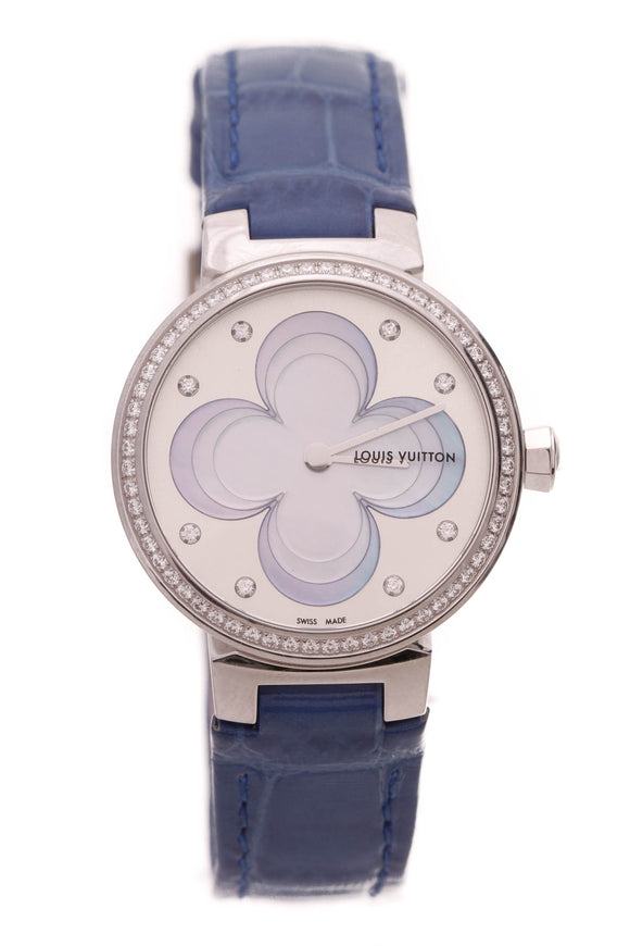 Louis Vuitton Blossom Watch Blue