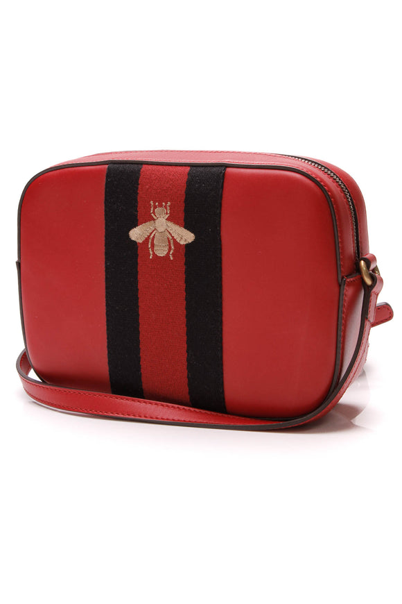 Webby Bee Crossbody Bag , Red