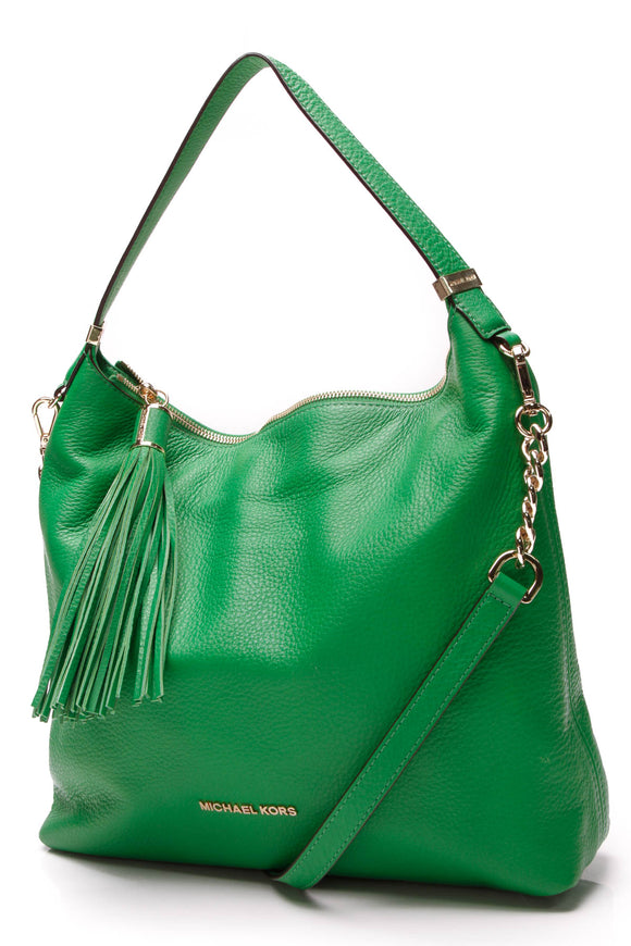 Michael Kors Weston Large Shoulder Bag Palm Green
