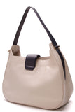 Tory Burch Ellen Colorblock Hobo Bag Leather Navy Ivory