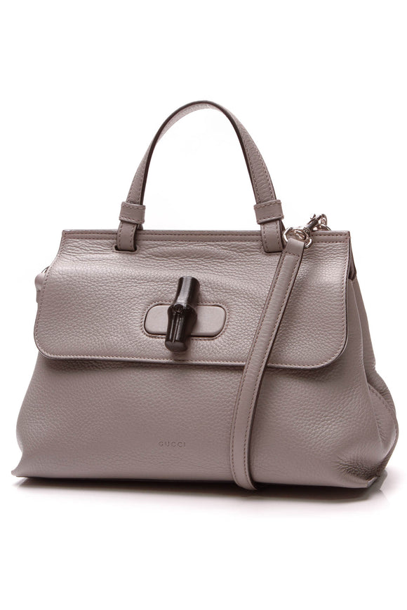 Gucci Bamboo Daily Top Handle Bag Gray