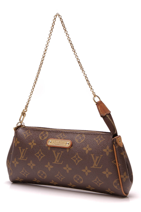 Louis Vuitton Eva Clutch Bag Monogram Brown