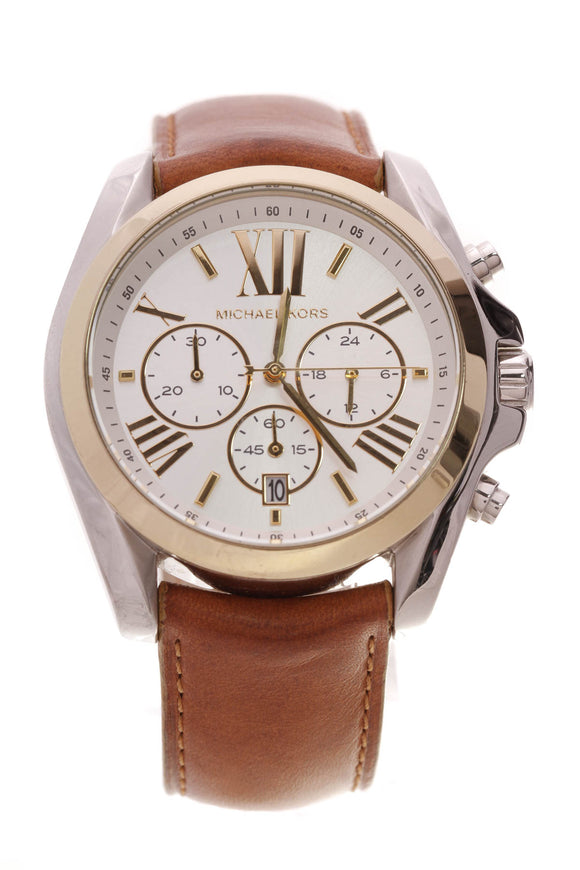 Michael Kors Bradshaw Watch Two-Tone Steel Brown