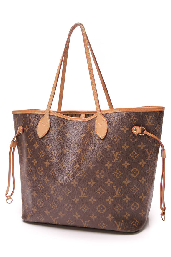 a27792ded741 Louis Vuitton Neverfull MM Tote Bag Monogram Canvas Brown