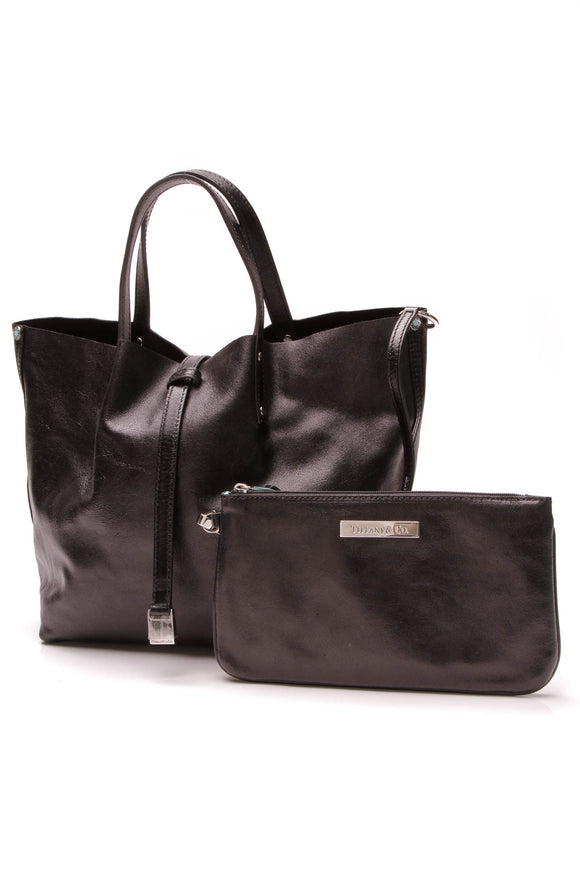 Tiffany & Co. Reversible Small Tote Bag Black