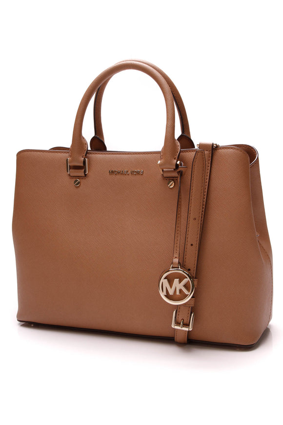 Michael Kors Savannah Large Satchel Bag Acorn Brown