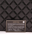 Chanel O Case Clutch Bag Black Glitter Caviar