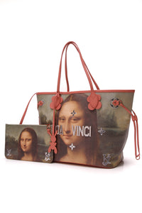 Louis Vuitton Masters Collection Da Vinci Neverfull MM Bag Coral