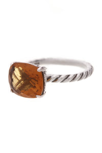 David Yurman Color Classics Citrine Ring Silver Size 6.5