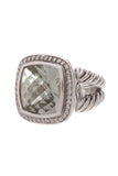 David Yurman Albion Ring 14mm Prasiolite Size 5.5