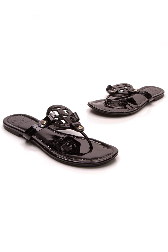 Tory Burch Miller Thong Sandals Black Size 7