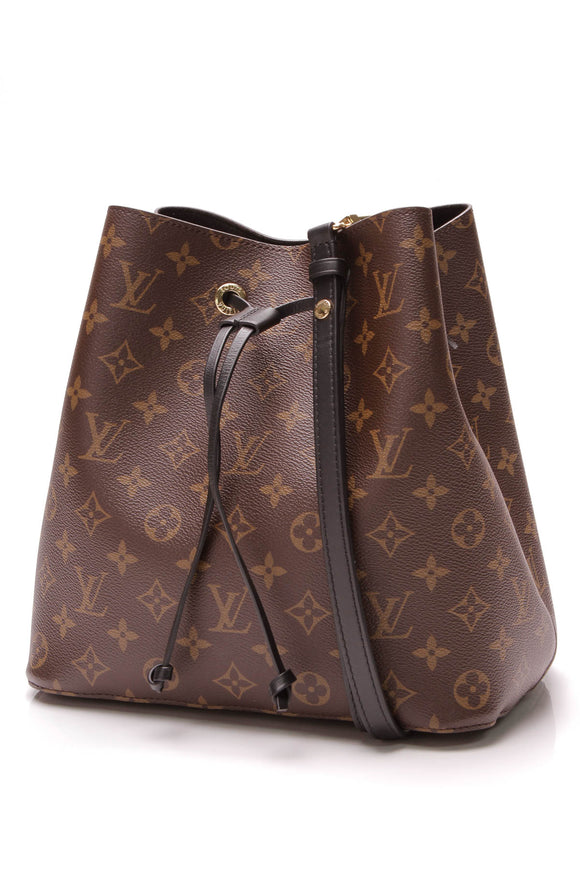 Louis Vuitton Neonoe Bag Monogram Noir Brown Black