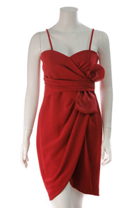 Max Mara Bow Cocktail Dress Red Size 8