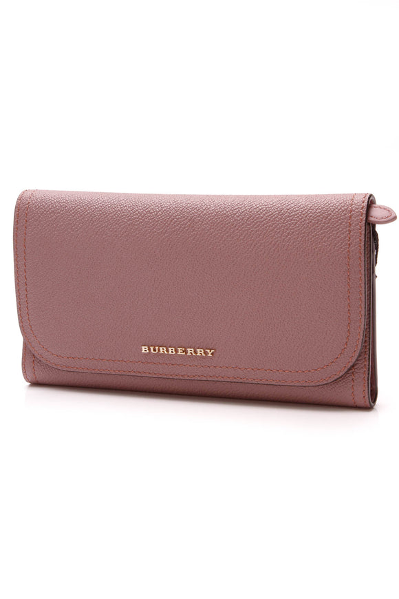 Burberry Kenton Continental Wallet Dusty Rose Pink