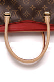 Louis Vuitton Pallas Bag Cerise Monogram Red Brown