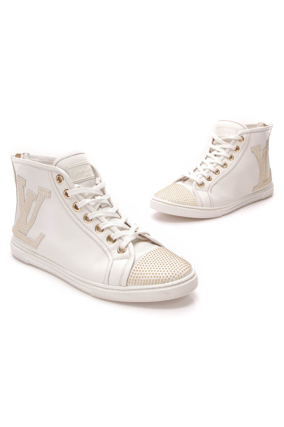 Louis Vuitton Punchy High Top Sneakers Ivory