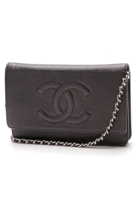 Chanel Timeless CC WOC Crossbody Bag Black Caviar