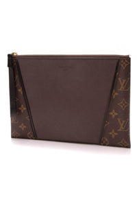 Louis Vuitton Veau Cachemire W Pochette Clutch Bag Monogram Brown Calfskin
