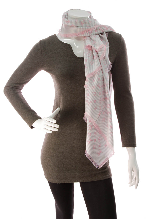 Louis Vuitton Sur Mesure Silk Scarf Pink