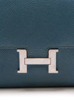 Hermes Constance Long Wallet Bleu Togo Leather Dark Teal Blue