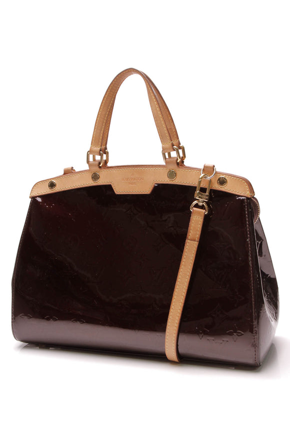 Louis Vuitton Brea MM Bag Amarante Vernis Dark Burgundy