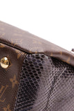 Louis Vuitton Python Pallas Bag Navy Monogram Brown