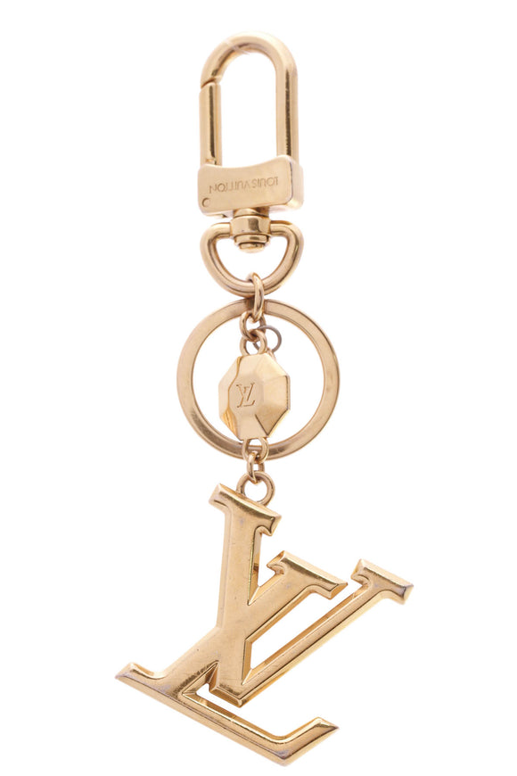 Louis Vuitton Facettes Key Holder Bag Charm Gold
