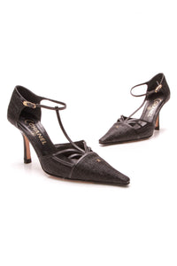 Chanel Caged Pointed Toe Pumps Black Size 38